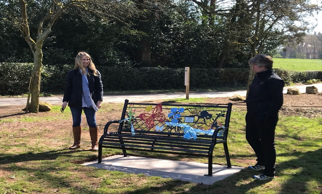 Photograph of the bench dedicated to Stan Phillip's